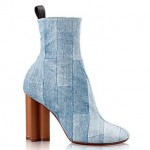 louis vuitton denim half boot