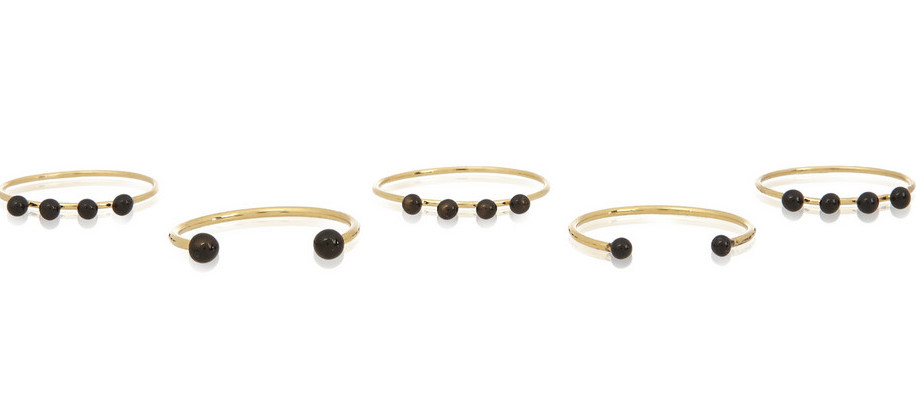 ISABEL MARANT Set of five gold-plated and resin rings