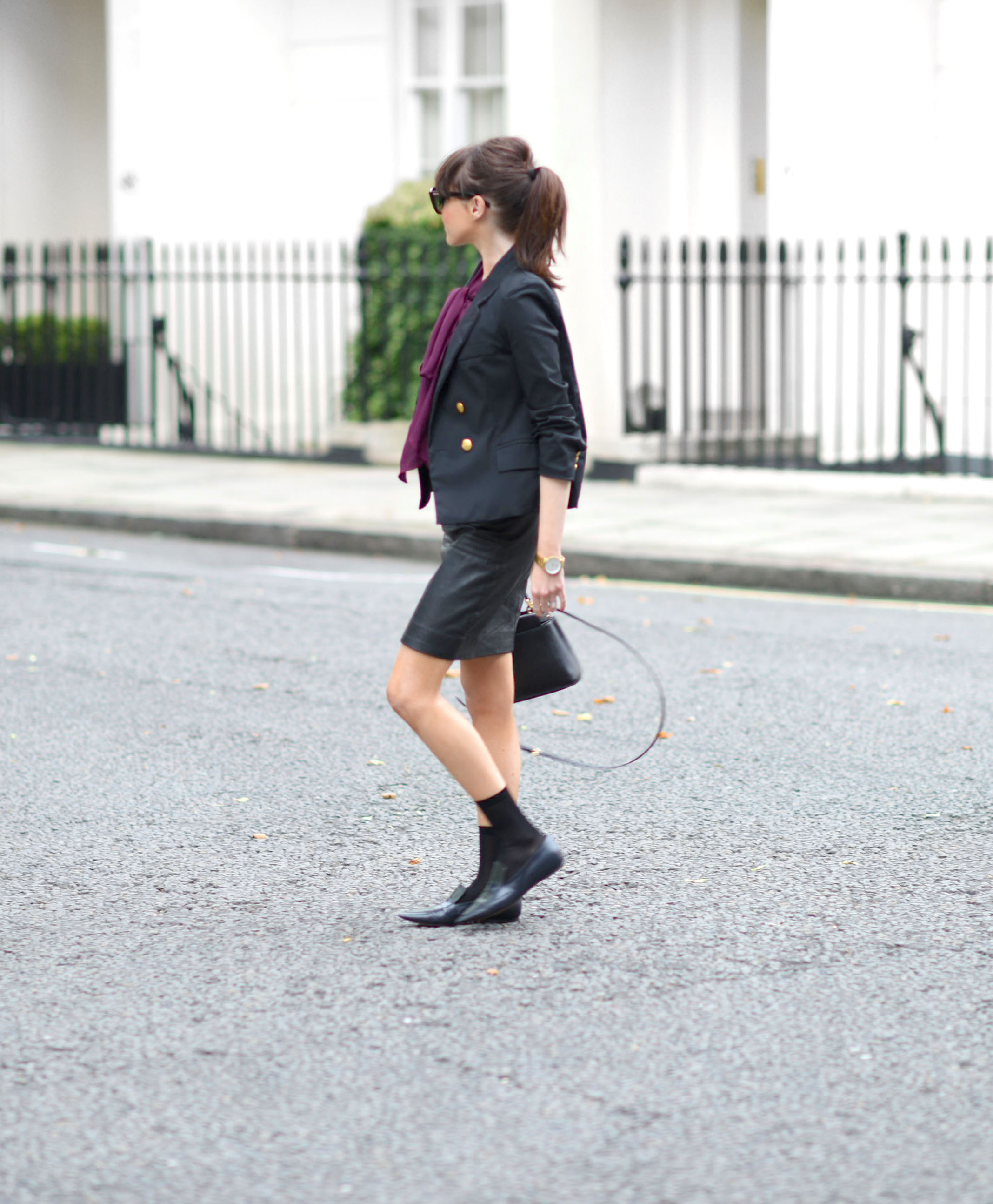 street style pussy bow blouse