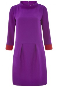 tabitha webb edie purple wool shift dress