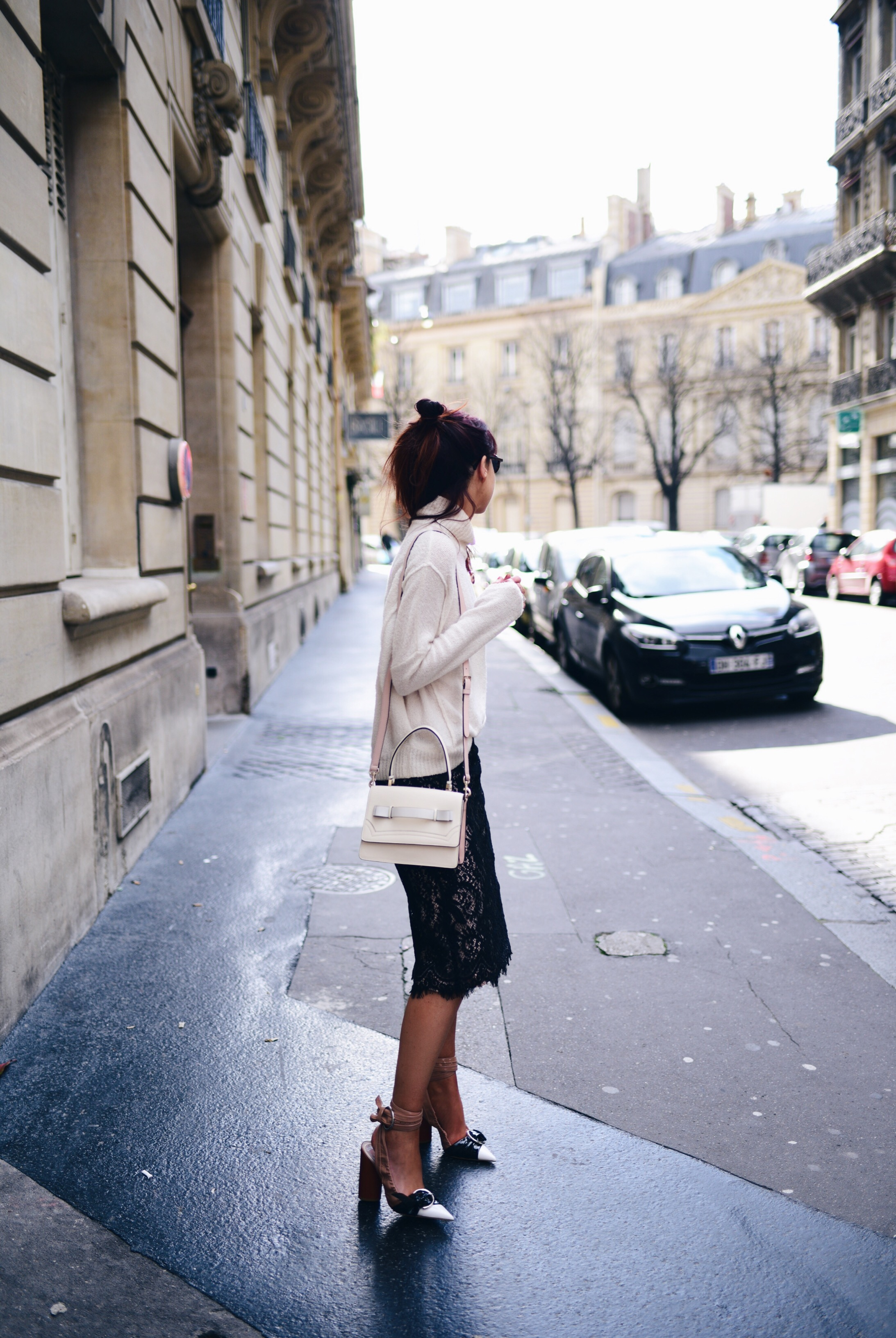 lace-skirt-cashmere-knit-mongolian-gilet-dior-heels-ss16