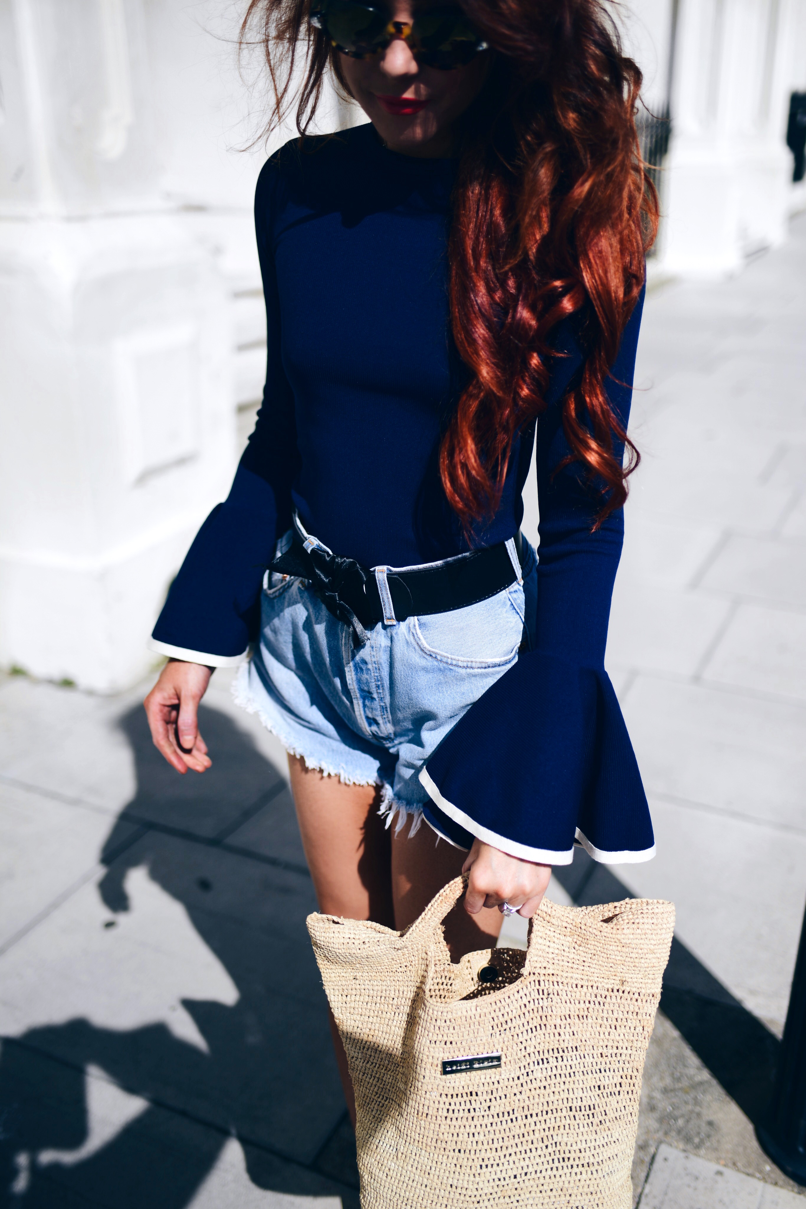 bell-shaped-sleeves-and-denim-jeans-shorts