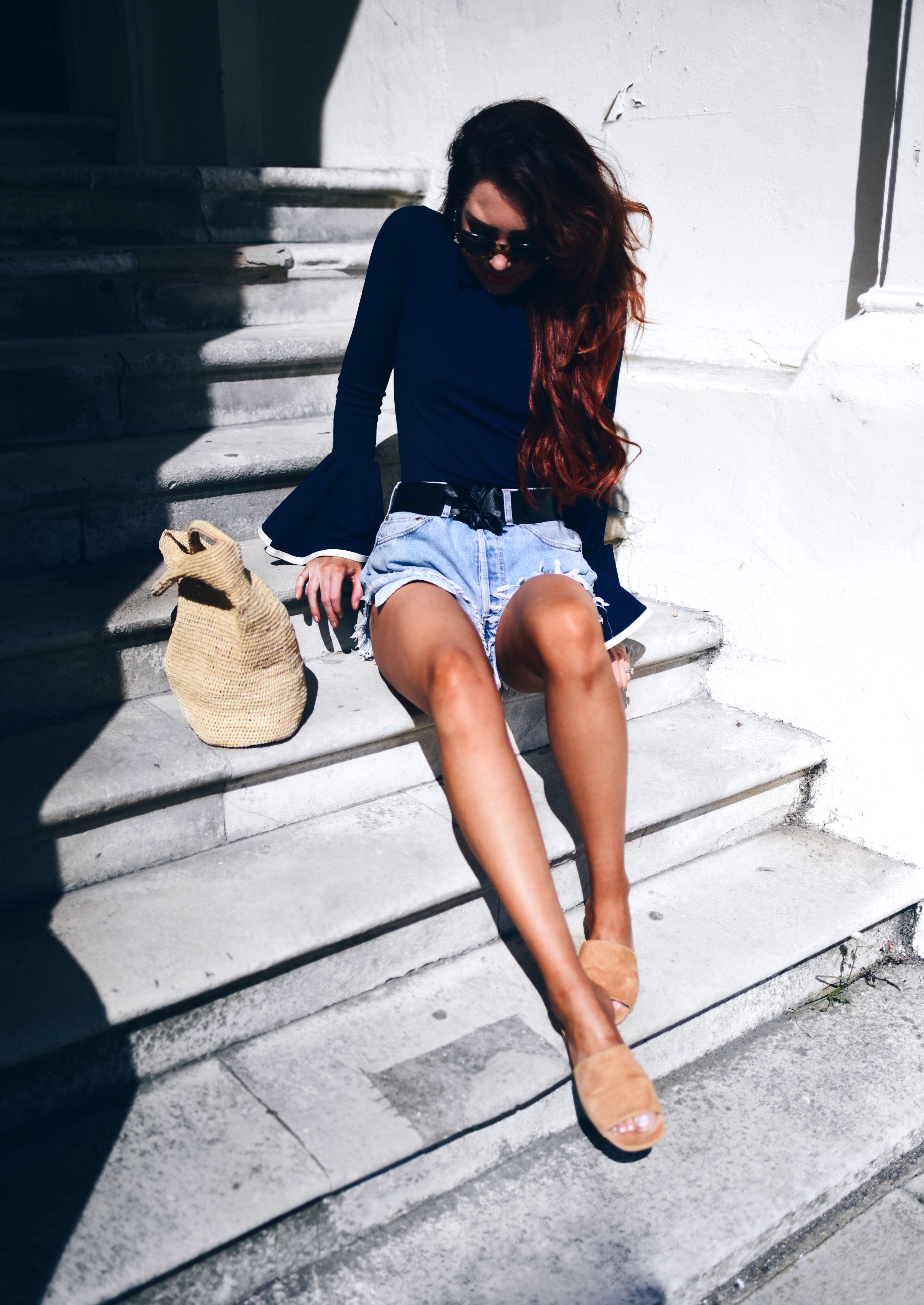 vintage-LEVIS-navy-top-and-TONY-BIANCO-mules
