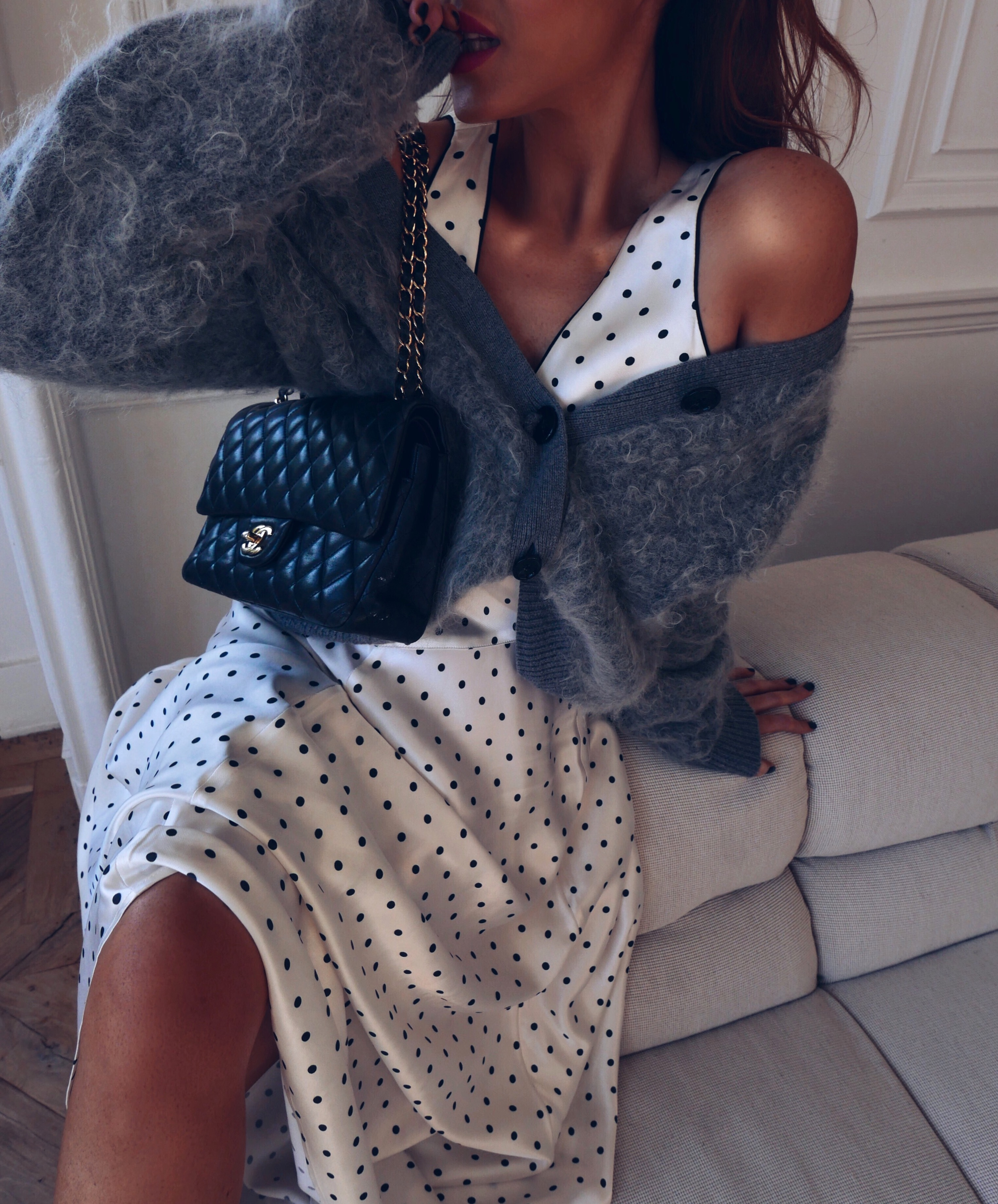 net-a-porter-sale-ganni-polka-dot-dress